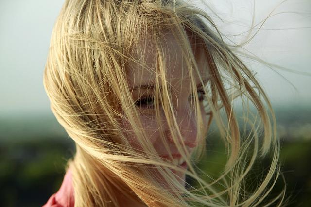 Schöne blonde Polin