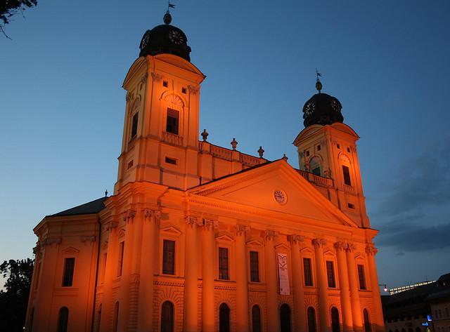 Wahrzeichen von Debrecen: Große Reformierte Kirche  Debrecen