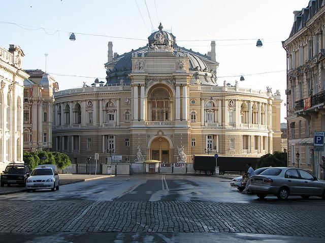 Opernhaus Odessa in der schönen, ukrainischen Hafenstadt Odessa