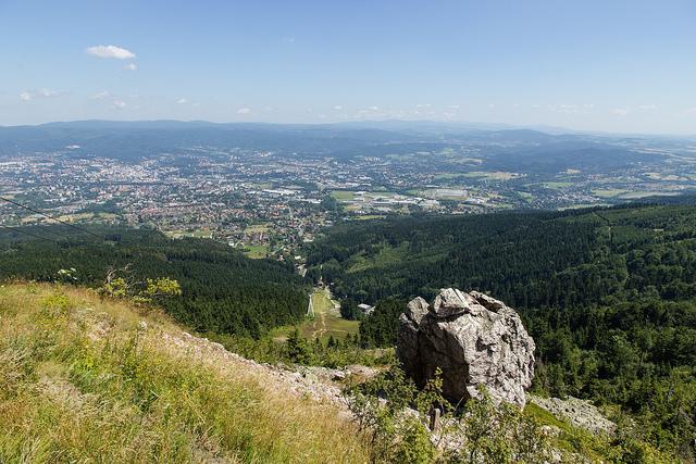Liberec (Reichenberg) vom Hausberg Ještěd aus
