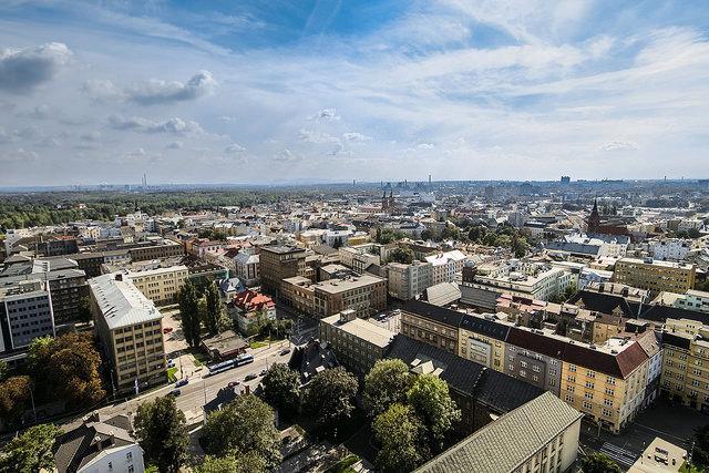 Blick auf die tschechische Stadt Ostrava (Ostrau)