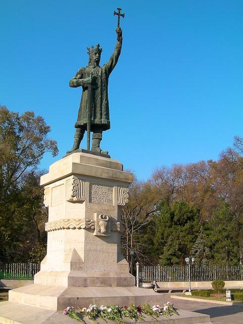 Statue des Ștefan cel Mare in Chișinău, der Hauptstadt der Republik Moldau